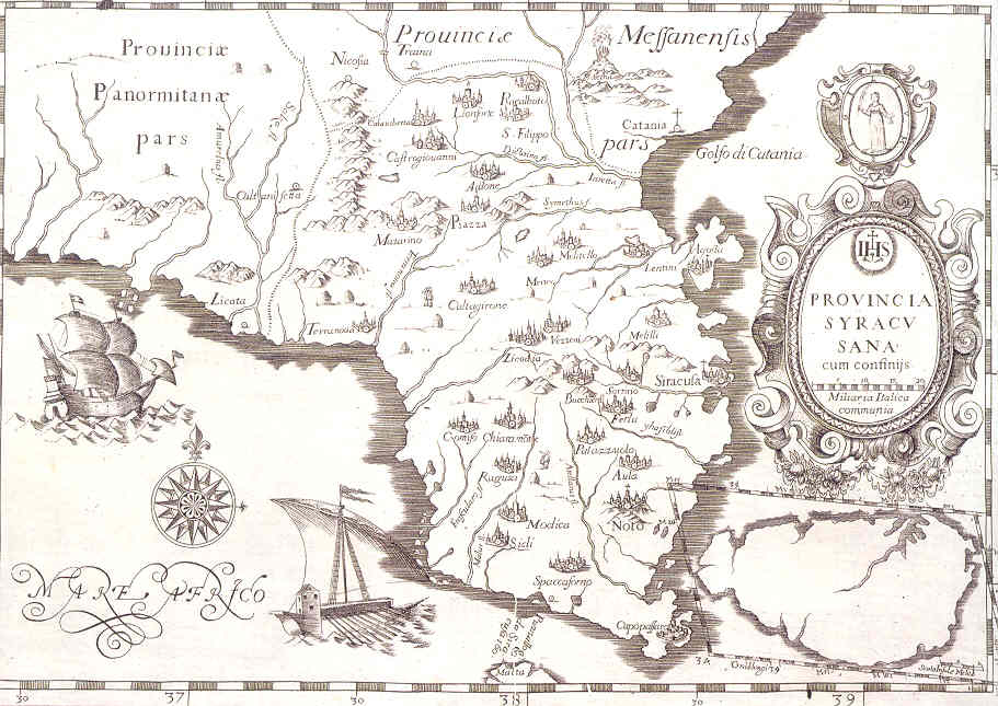 Cartina Sud Sicilia